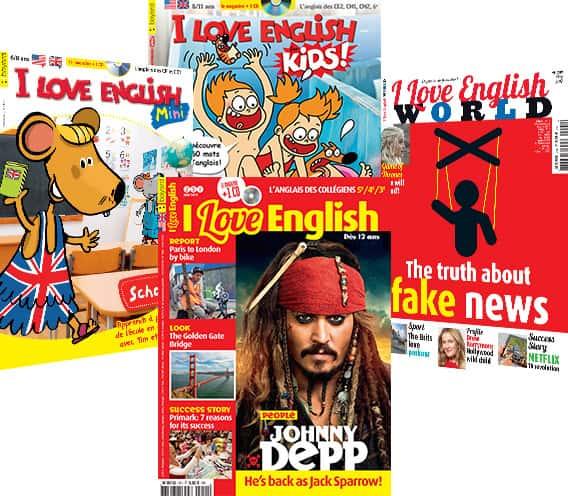 Les couvertures des derniers magazines I Love English
