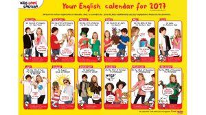 calendrier 2017 du magazine I Love English for Kids