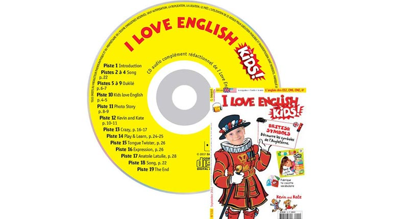 couverture I Love English for Kids n°132, septembre 2012, avec CD audio