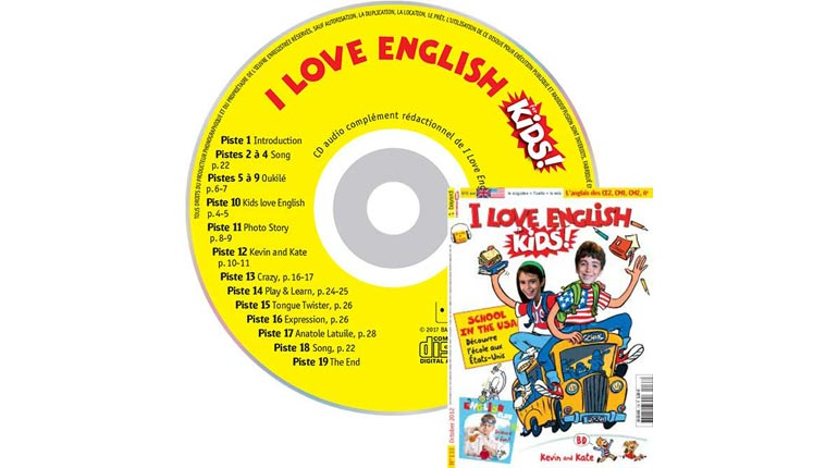 couverture I Love English for Kids n°133, octobre 2012, avec CD audio