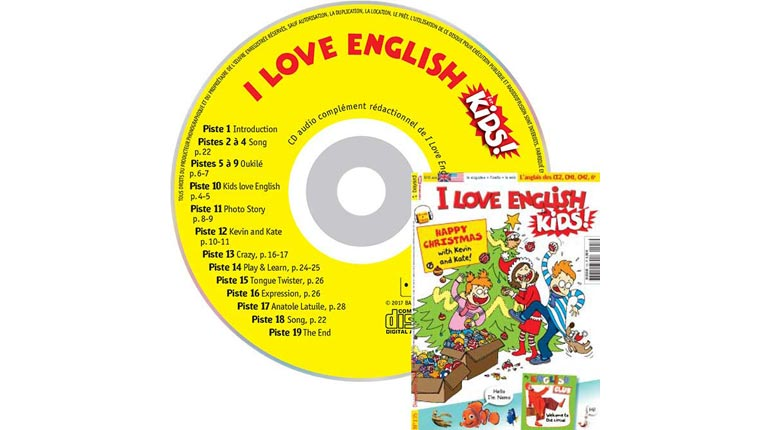 couverture I Love English for Kids n°135, décembre 2012, avec CD audio