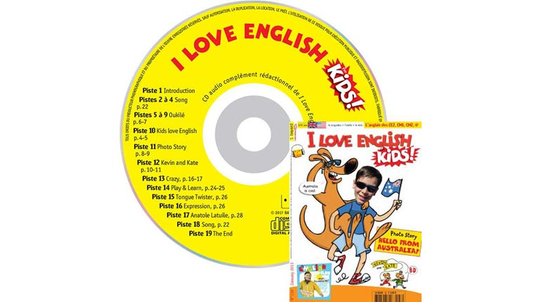 couverture I Love English for Kids n°136, janvier 2013, avec CD audio
