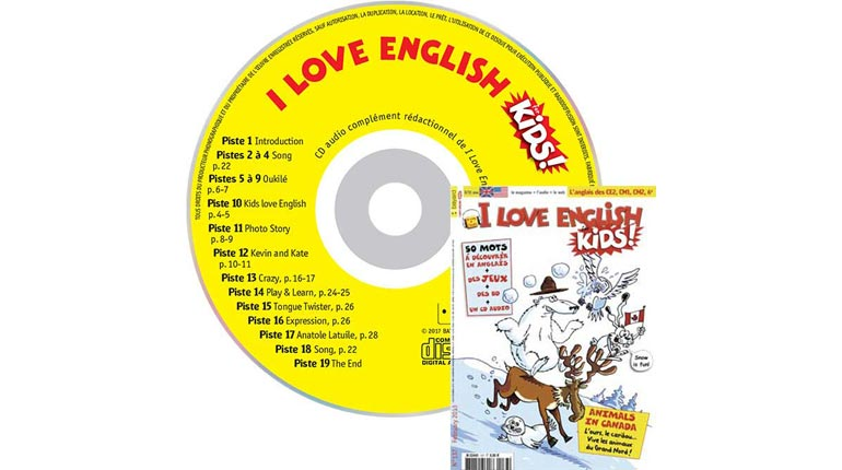 couverture I Love English for Kids n°137, février 2013, avec CD audio