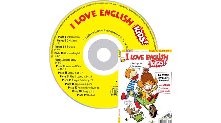 couverture I Love English for Kids n°139, avril 2013, avec CD audio