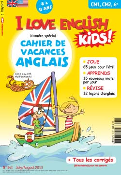 couverture I Love English for Kids n 141 - juillet-août 2013
