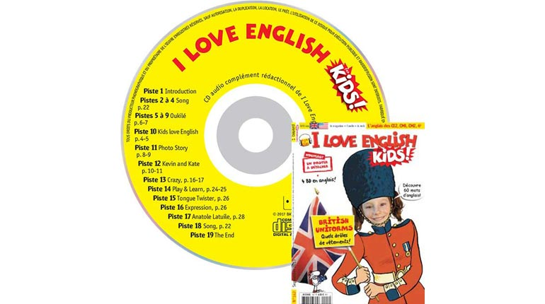 couverture I Love English for Kids n°142, septembre 2013, avec CD audio