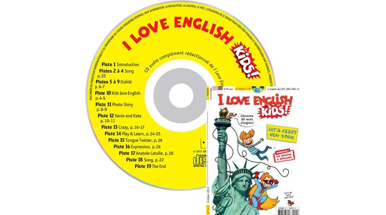 couverture I Love English for Kids n°143, octobre 2013, avec CD audio