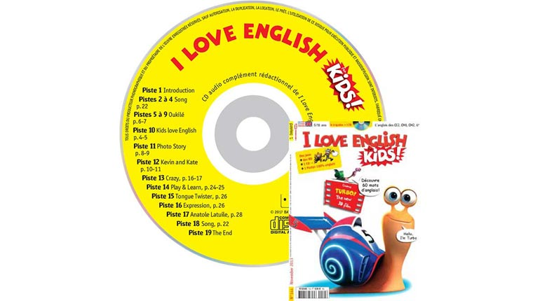 couverture I Love English for Kids n°144, novembre 2013, avec CD audio