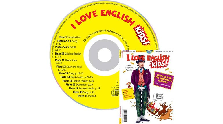 couverture I Love English for Kids n°145, décembre 2013, avec CD audio