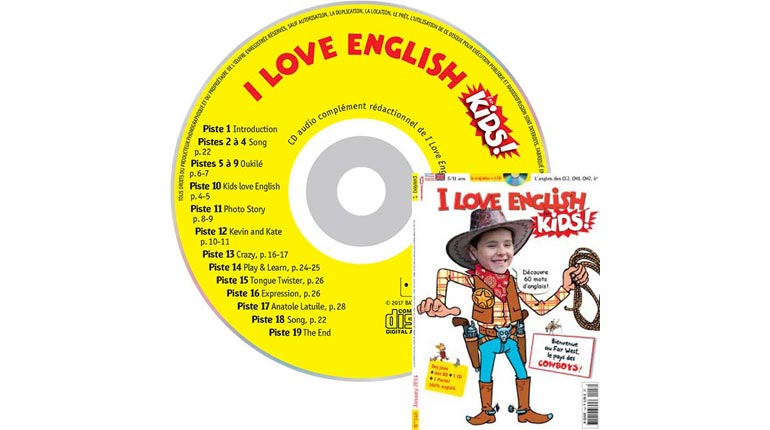 couverture I Love English for Kids n°146, janvier 2014, avec CD audio