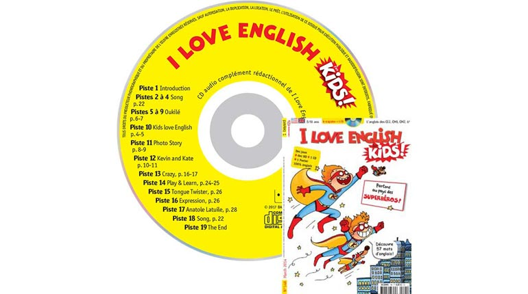 couverture I Love English for Kids n°148, mars 2014, avec CD audio