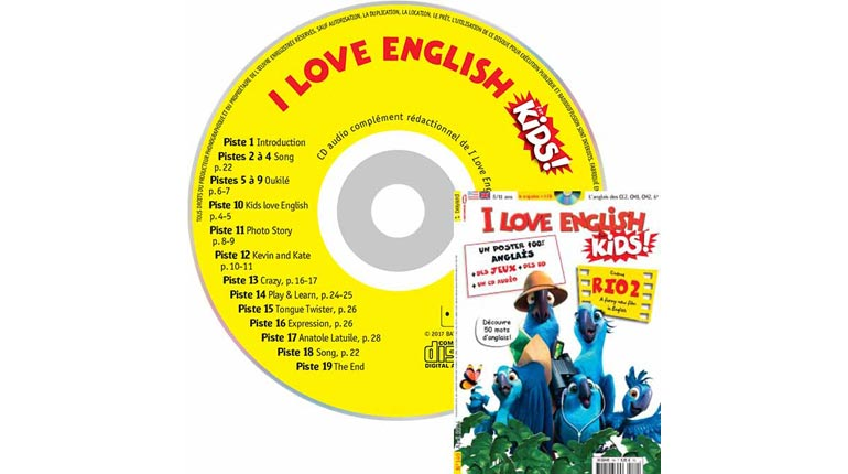 couverture I Love English for Kids n°149, avril 2014, avec CD audio