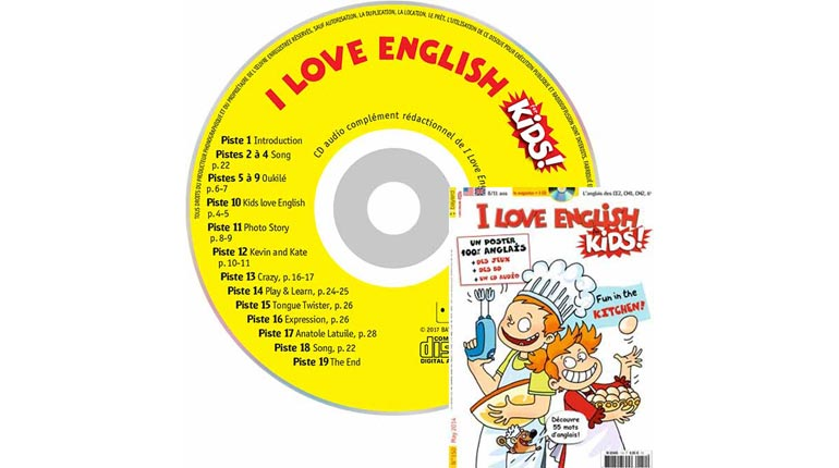 couverture I Love English for Kids n°151, juin 2014, avec CD audio