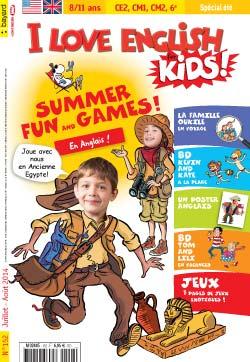 couverture I Love English for Kids n 152 - juillet-août 2014