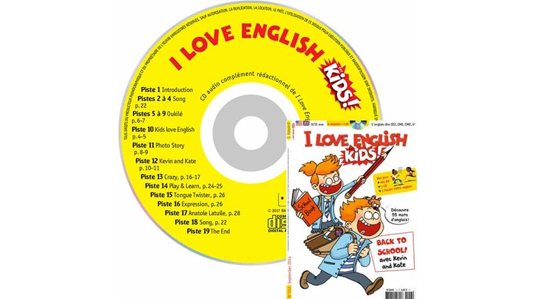 couverture I Love English for Kids n°153, septembre 2014, avec CD audio