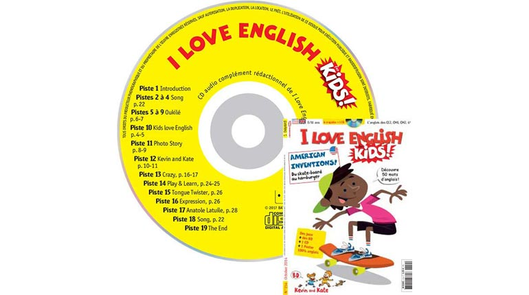couverture I Love English for Kids n°154, octobre 2014, avec CD audio