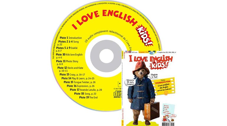 couverture I Love English for Kids n°156, décembre 2014, avec CD audio