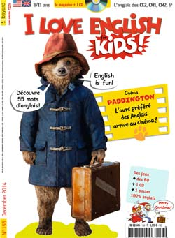 couverture I Love English for Kids n 156 - décembre 2014