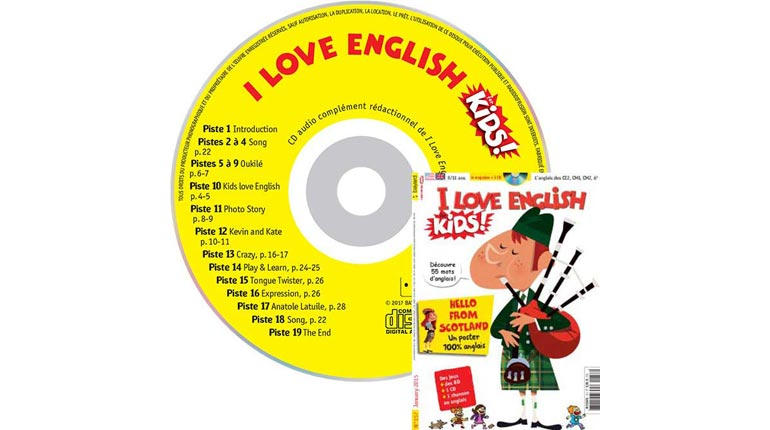 couverture I Love English for Kids n°157, janvier 2015, avec CD audio