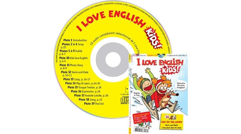 couverture I Love English for Kids n°158, février 2015, avec CD audio