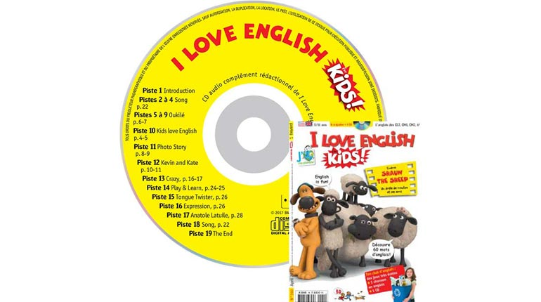 couverture I Love English for Kids n°160, avril 2015, avec CD audio