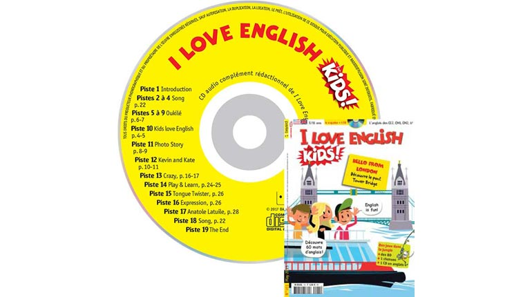 couverture I Love English for Kids n°161, mai 2015, avec CD audio