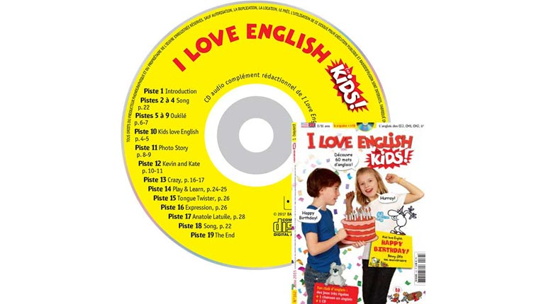 couverture I Love English for Kids n°162, juin 2015, avec CD audio