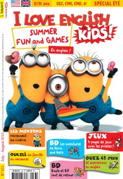 couverture I Love English for Kids n 163 - juillet-août 2015
