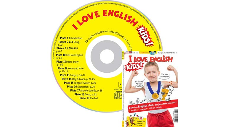 couverture I Love English for Kids n°164, septembre 2015, avec CD audio