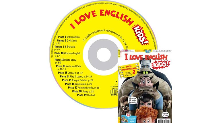 couverture I Love English for Kids n°165, octobre 2015, avec CD audio
