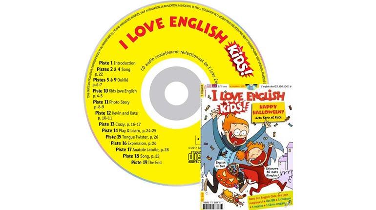 couverture I Love English for Kids n°166, novembre 2015, avec CD audio