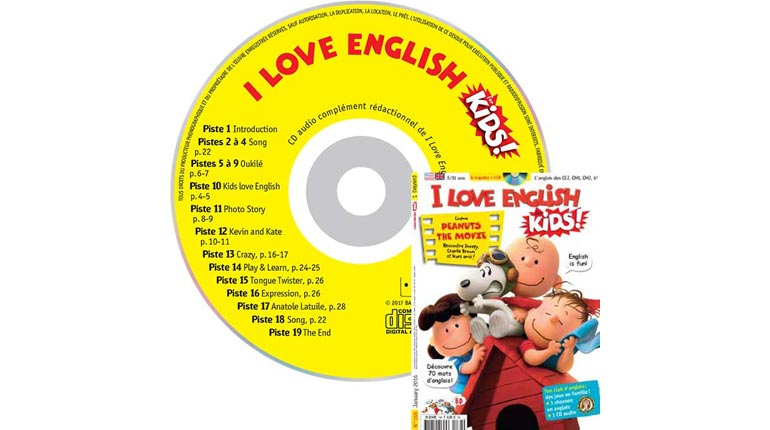 couverture I Love English for Kids n°168, janvier 2016, avec CD audio
