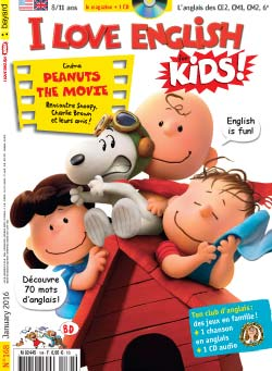 couverture I Love English for Kids n 168 - janvier 2016