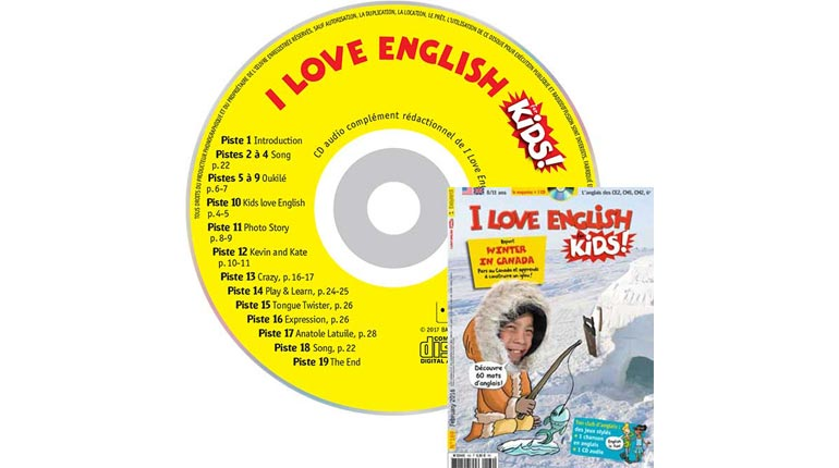couverture I Love English for Kids n°169, février 2016, avec CD audio