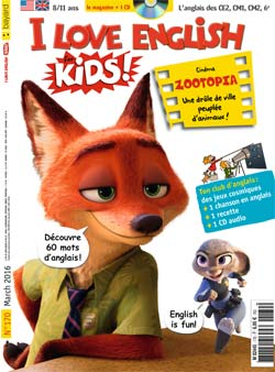 couverture I Love English for Kids n 170 - mars 2016