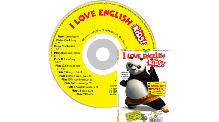 couverture I Love English for Kids n°171, avril 2016, avec CD audio