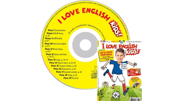 couverture I Love English for Kids n°173, juin 2016, avec CD audio