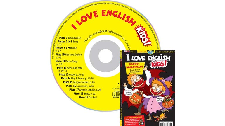 couverture I Love English for Kids n°177, novembre 2016, avec CD audio