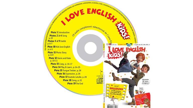 couverture I Love English for Kids n°178, décembre 2016, avec CD audio