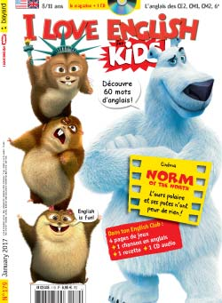 couverture I Love English for Kids n 179 - janvier 2017