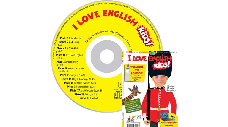 couverture I Love English for Kids n°181, mars 2017, avec CD audio