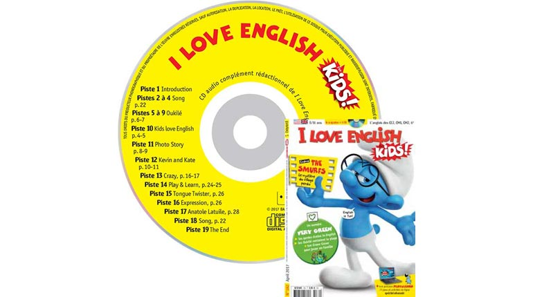 couverture I Love English for Kids n°182, avril 2017, avec CD audio
