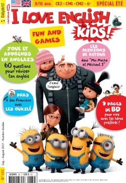 couverture I Love English for Kids n 185 - juillet-août 2017