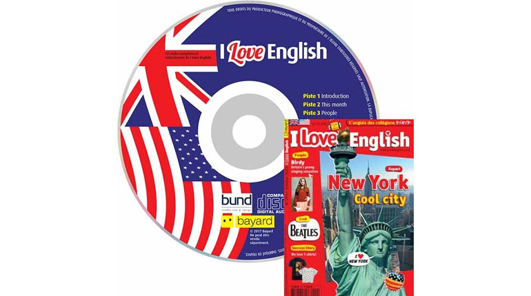couverture I Love English n°201, octobre 2012, avec CD audio