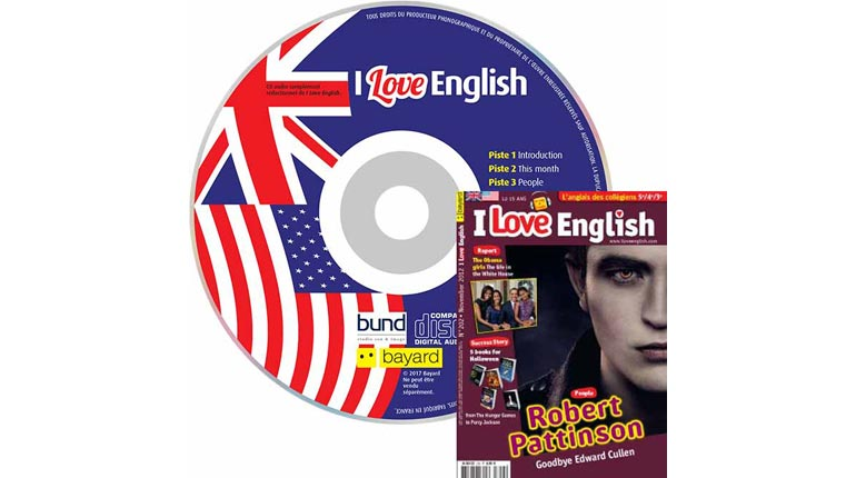 couverture I Love English n°202, novembre 2012, avec CD audio