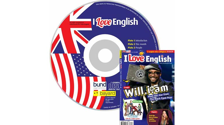 couverture I Love English n°203, décembre 2012, avec CD audio