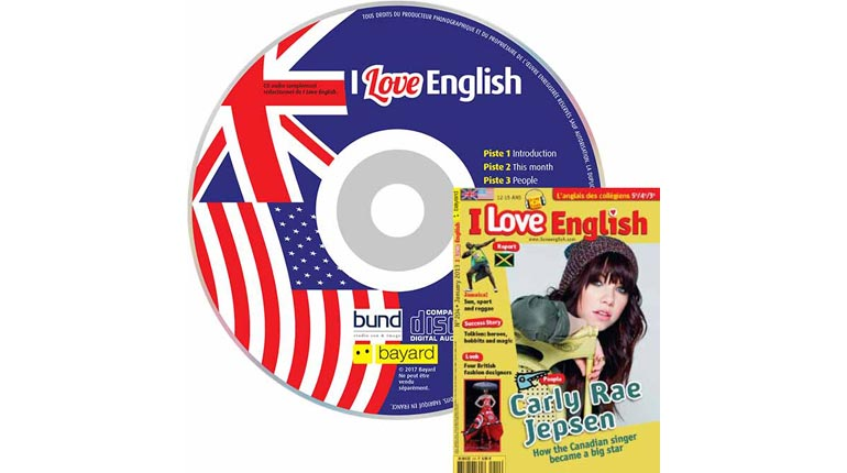 couverture I Love English n°204, janvier 2013, avec CD audio