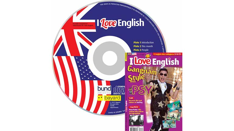 couverture I Love English n°205, février 2013, avec CD audio