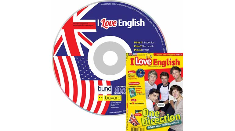 couverture I Love English n°206, mars 2013, avec CD audio