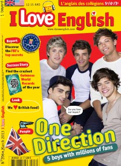 couverture I Love English n206 - mars 2013